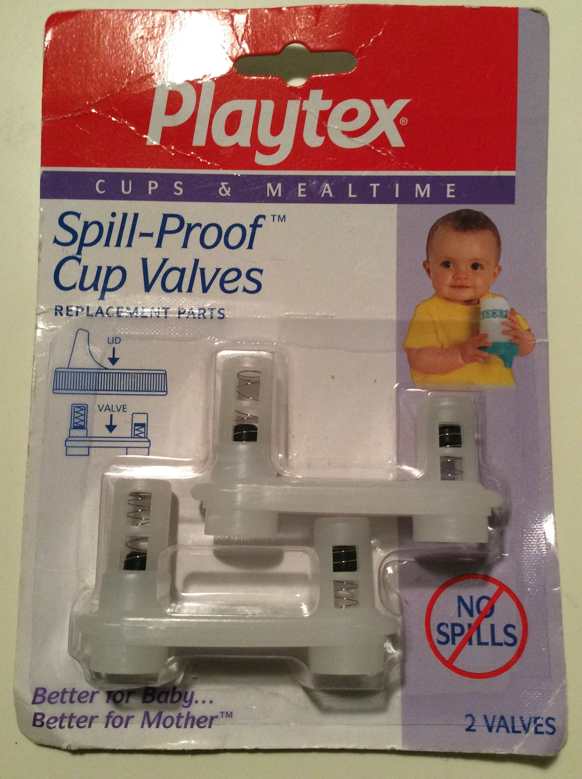 2 per Package Playtex Spill-Proof Cup Replacement Valve 5 Pack