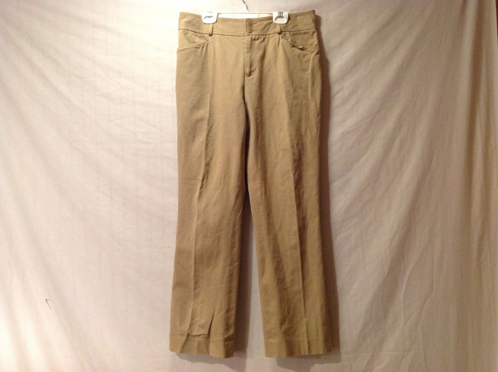 Great Condition Ralph Lauren Petite Size 8 Cotton Blend Khaki Pants 2 Pockets