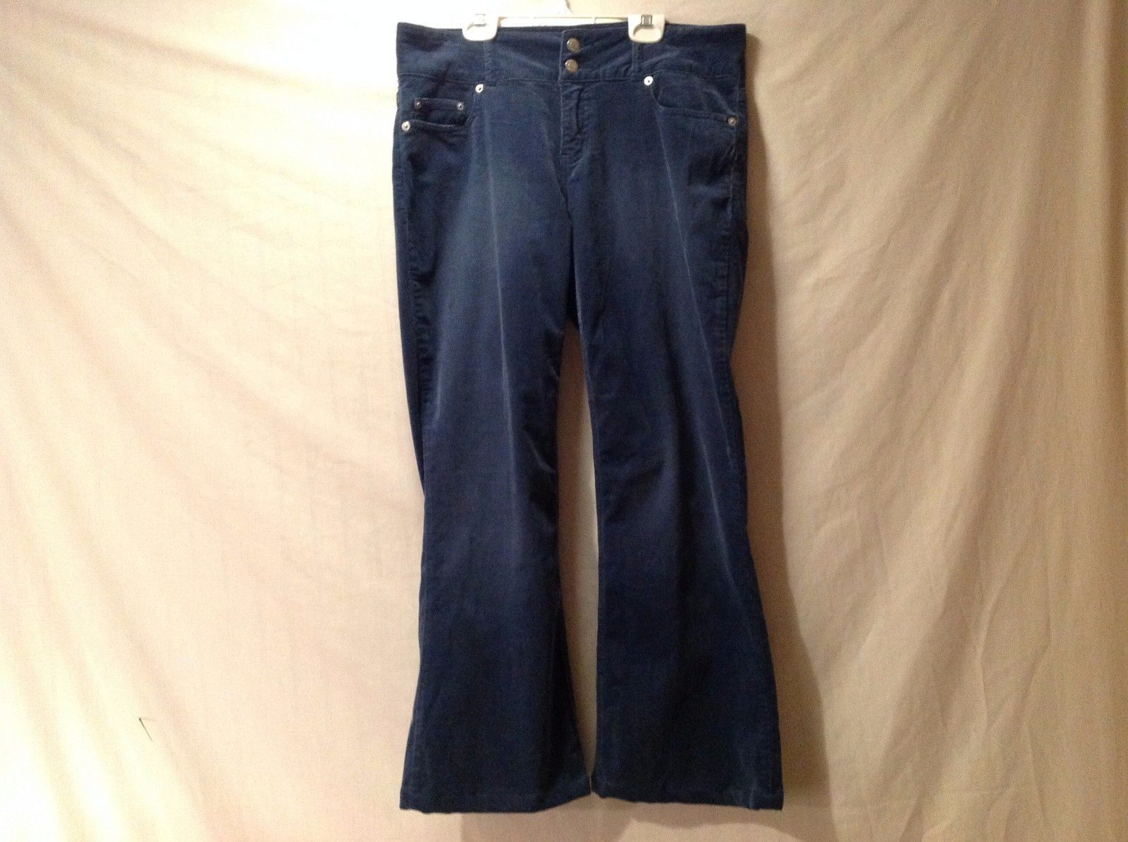 Great Condition London Jean Size 10 Cotton Blend Blue Corduroy Stretch Pants
