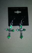 Artisan Handmade Sterling Silver Green Enamel C... - $1.99
