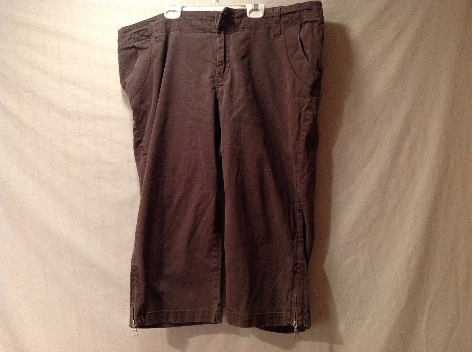 Great Condition Lane Bryant Size 18 Cotton Blend Brown Pants Adjustable Ankle