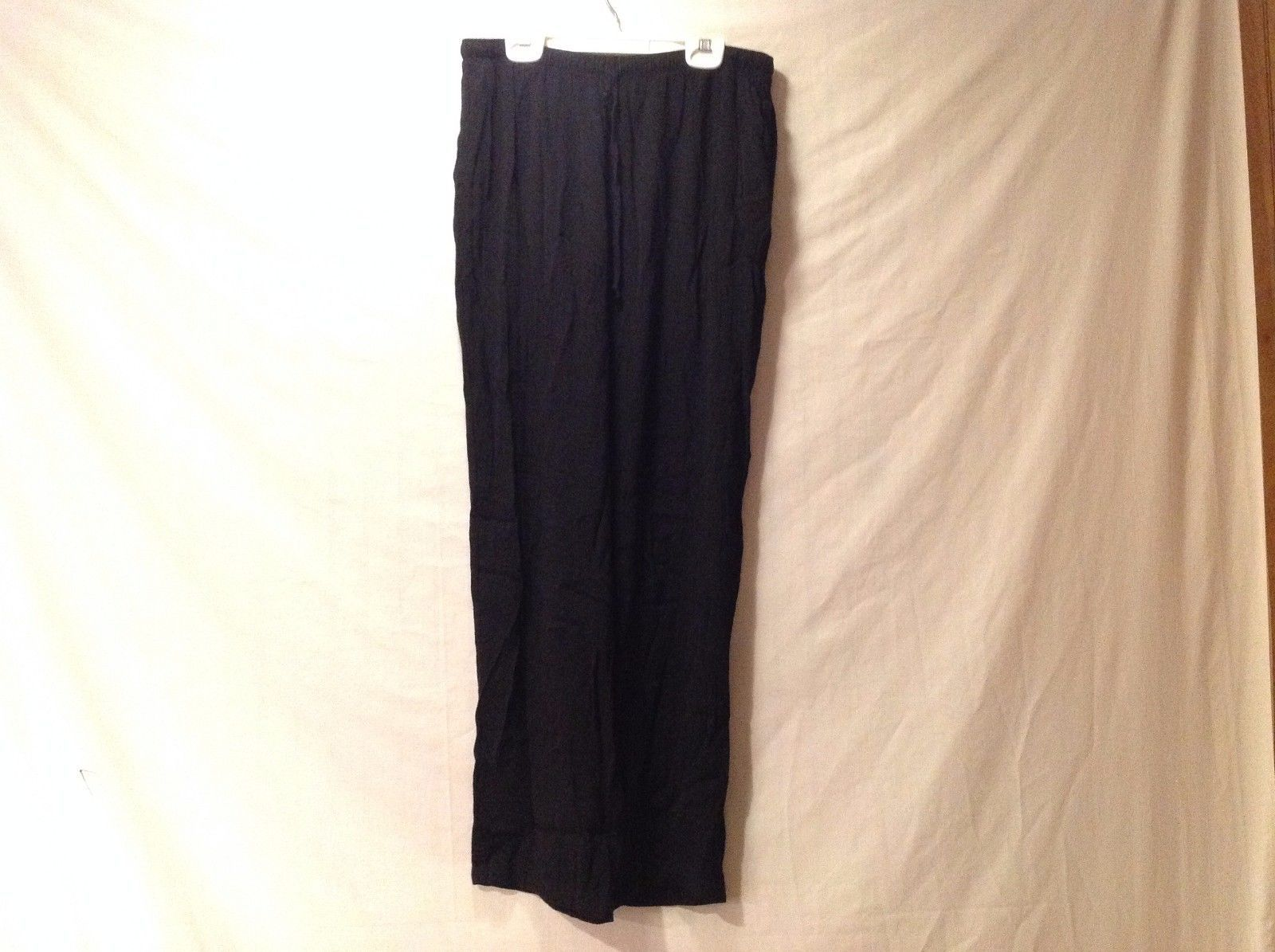 Great Condition Clio Size Large Acetate Rayon Blend Black Pants Elastic Waist