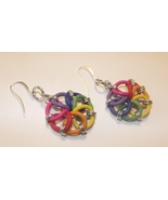Chainmaille Pinwheel Earrings - Pick a color - $13.00