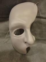 Phantom Of The Opera White Half Mask Halloween Mask Pvc Child Size - $7.87