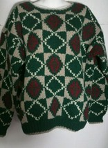 Vintage Gap Clothing Company Sweater Men's Medium M Wool Hand Knit Red G... - $19.78