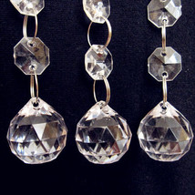 12x 50cm Crystal Clear Bead Acrylic Garland Chandelier Hanging Wedding Supplies - $14.20