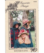 Favorite Things Sewing Pattern and Brimmed Hats Winter's Eve 030 Edwardi... - $12.00