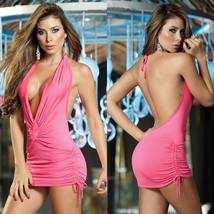 Women Sexy Satin Cloth Mini Dress Nightwear Night Club Wear Temptation I... - $24.75