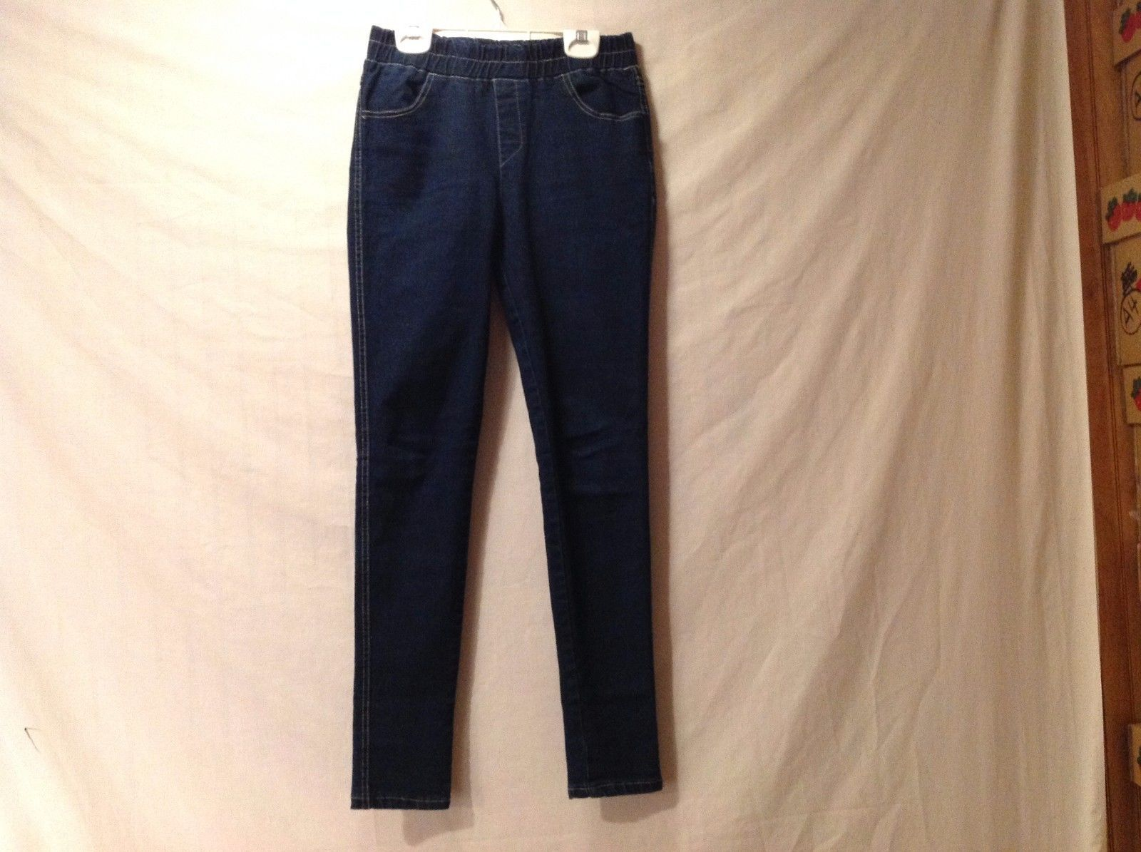 Great Condition Blue Elastic Waist 4 Pockets Pants