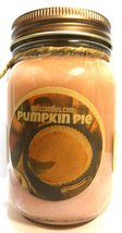 Pumpkin Pie 16oz Country Jar All Natural Soy Candle - Approximate Burn T... - $13.99