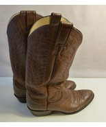 Vintage Justin Leather Cowboy Western Boots Sizes: Men 7D; Women 8.5 Mad... - $45.99