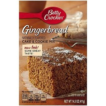 Betty Crocker Gingerbread Cake & Cookie Mix, 14.5-Ounce Boxes Pack of 3