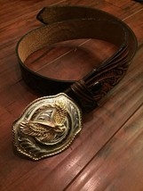 Western Cowboy Gold Eagle Belt Buckle by Silver... - $64.35