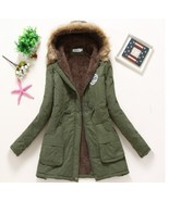 Winter Coat Women New Army Green Parka Casual Outwear Military Hooded Th... - $45.49