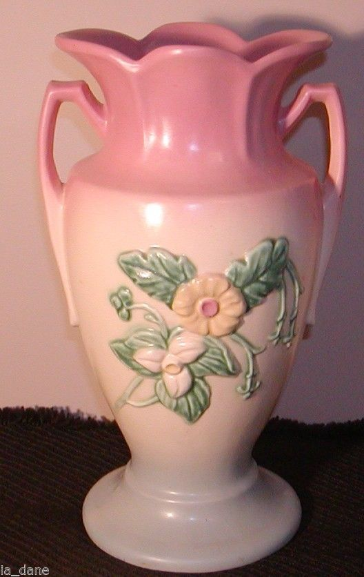 Hull Pottery Vase Wild Flower Pink Blue Base And 50 Similar Items