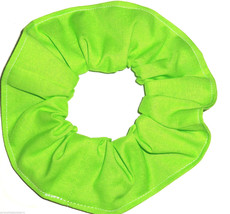 Lime Green Cotton Fabric Hair Scrunchie Scrunchies by Sherry Handmade USA  - $6.99