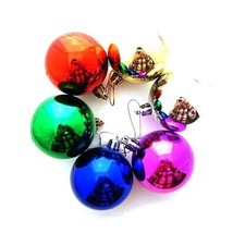 6x Colorful Round Christmas Balls Baubles Xmas Tree Hanging Decor Ornament - £2.51 GBP