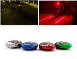 5 LED 2 Laser Cycling Safety Bicycle Warning Flashing Bike Rear Tail Lig... - $6.88