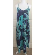 Womens NWT Ann Taylor LOFT Tropical Floral Racerback Blue Maxi Dress Sz ... - $44.95