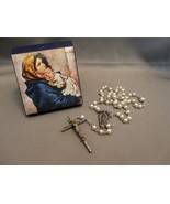 Rosary with 3mm White Pearl Beads in Presentation/Gift  Box - $12.49