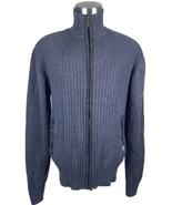 MARC ECKO Gray Ribbed Cardigan Sweater Men's XL... - $29.69
