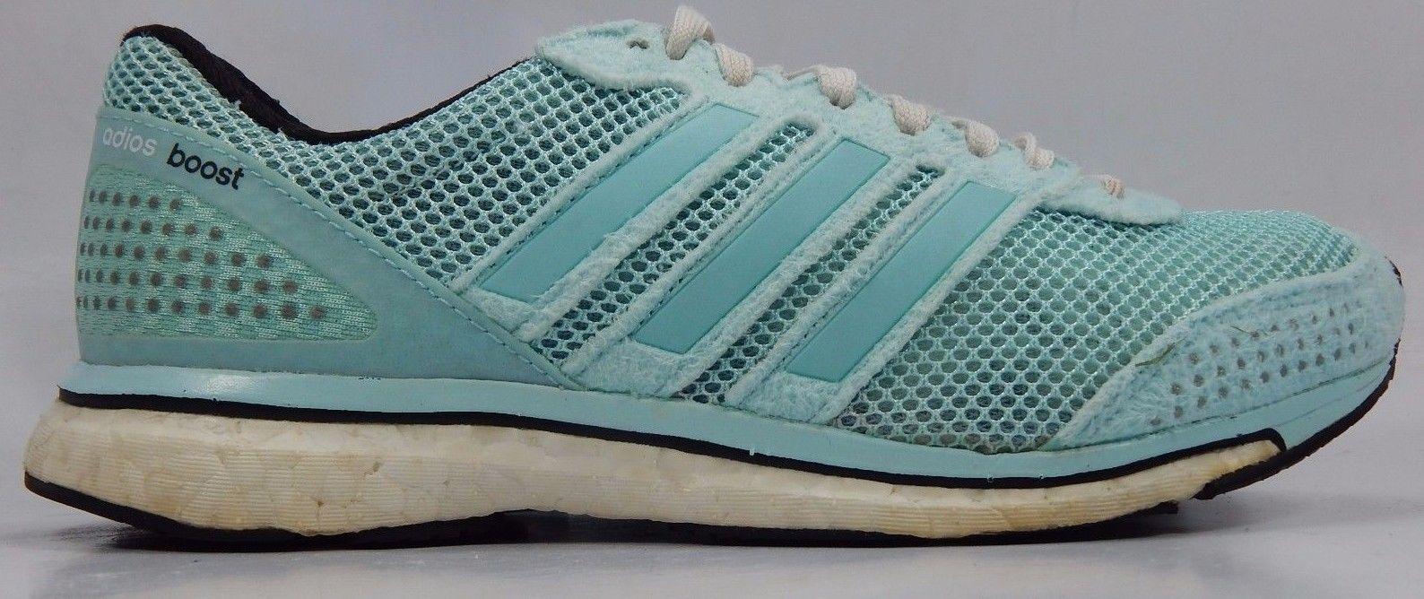 ADIDAS ADIZERO ADIOS BOOST 2 WOMEN'S RUNNING SHOES SZ US 6 M (B) EU 37 1/3 BLUE