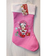 CUTE NEW PINK DISNEY MINNIE MOUSE HANGING FIREPLACE CHRISTMAS STOCKING T... - $6.42