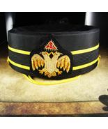 Masonic 32nd Degree hat Scottish Rite Cap Masonic hat Size 7 1/8 gold bu... - $65.00