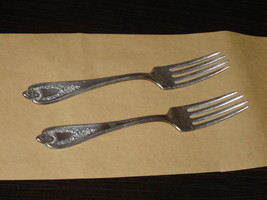 Pair of 1847 Rogers Triple Old Colony (1911) forks GUC (340H) - $12.99