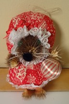 Vintage Handmade Mouse Christmas Ornament - $7.34
