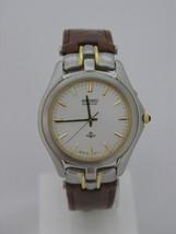 Seiko, men watch, classic, kinetic, brown strap, 2 tones case, SLB004 - $359.37