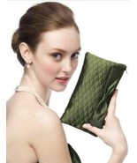 Dessy Taffeta Quilted Clutch - Style HBAG4.....Cypress (Green) - $5.93