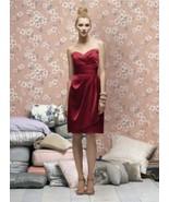 Lela Rose  LR 168...Cocktail length, Strapless, Satin Dress..Candy Apple... - $39.99