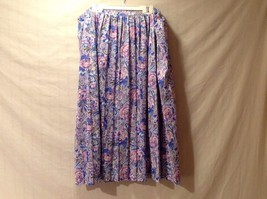 HABAND for Her Womens 100% Polyester Floral Pink Lavender Blue and Green Skirt
