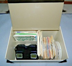 Vintage Sawyers View Master With Original Case And 69 Film Reels And Books  - $112.16