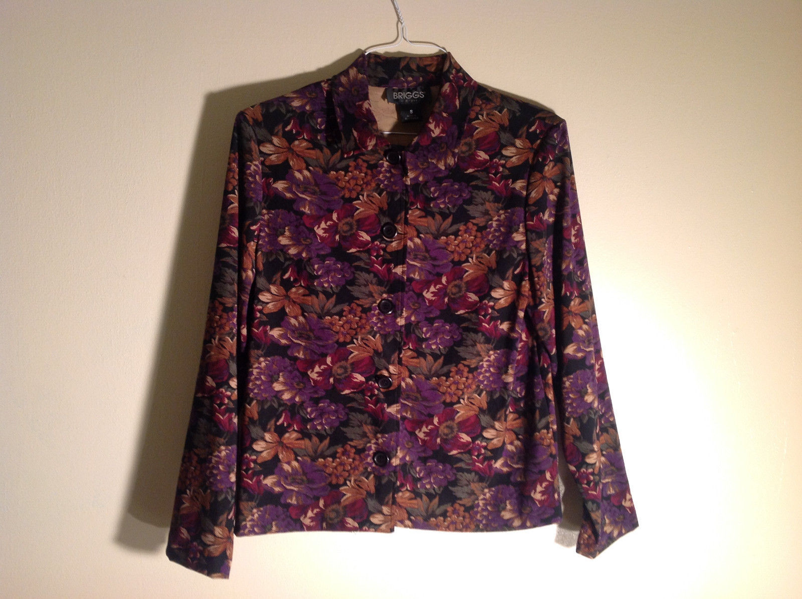Briggs New York Small Floral button-up Jacket