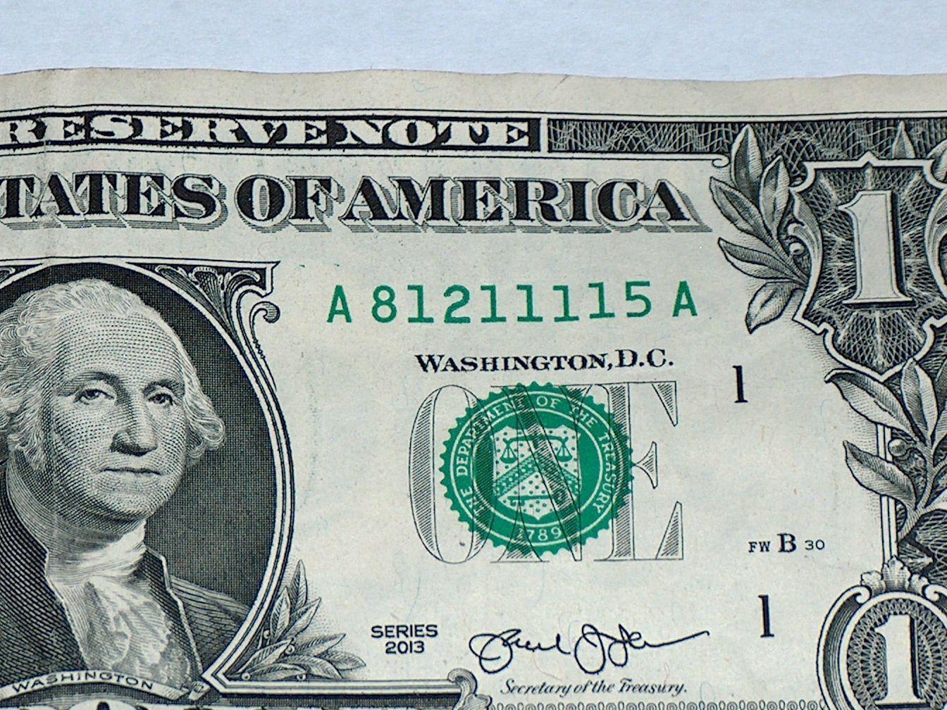 united states one dollar bill - HD1344×1008
