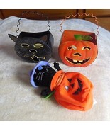 Halloween Tealight Candle Holders with Handles & Cat Zip-Up Bag - $14.85
