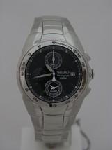 Seiko chrono sport, blue dial with lumibright hands, screw case back, SNA521 - $295.02