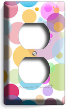 ABSTRACT PASTEL POLKA DOTS DUPLEX OUTLET WALL PLATE COVER BABY NURSERY B... - $8.99