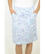 8 Nicole Miller Collection Blue Paisley A-Line ... - $42.07