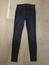 Joe's Jeans High Rise Leggings Skinny Jeans Gray Black Ava Wash Size 26 - $69.19