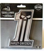 Harley-Davidson Dark Custom #1 Skull Hitch Plug... - $30.00