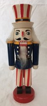 "Small Wooden Uncle Sam Nutcracker Patriotic Election America 9 5/8"" Tall - $24.70"