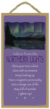 5X10 ADVICE FROM THE NORTHERN LIGHTS WOOD PLAQU... - $12.16