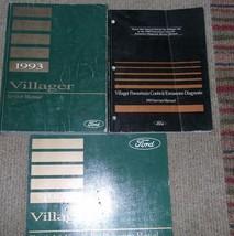 1993 Ford Mercury Villager Van Service Shop Repair Manual Set W Ewd & Pced Oem - $15.96