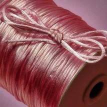 100 Yard 2mm SATIN CORD Medium PINK for Craft Macrame Kumihimo Braiding ... - $12.66