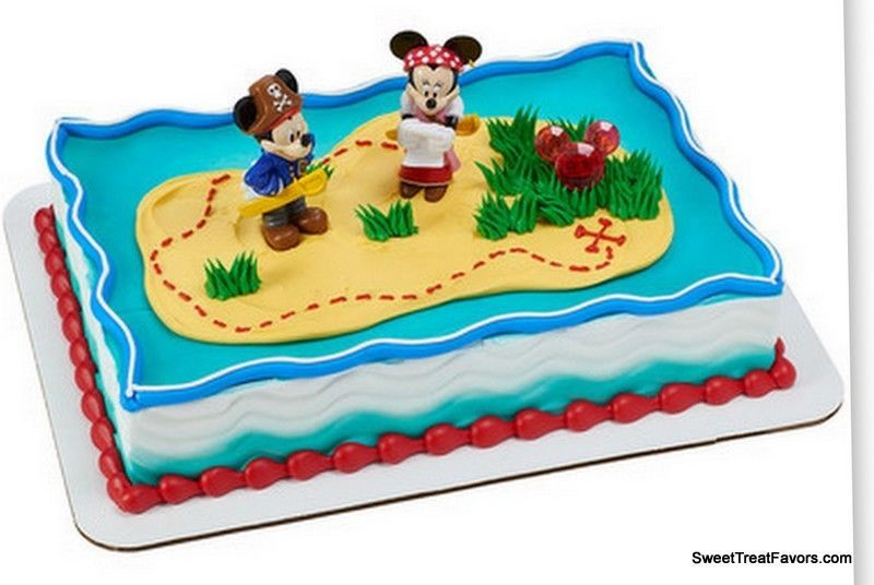 mickey minnie pirate cake decoration supplies topper kit favor treasure nw candles