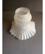 Vintage Frosted Fluted Hobnail Glass Globe Ceil... - $12.50