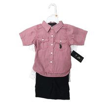 Us Polo 3 Pieces Baby SET12-24 Months (12 Months, RED/NAVY) - $16.65